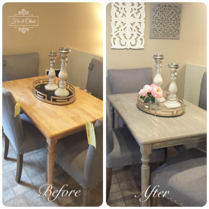 Before & After Farm Table